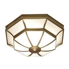 balfour antique brass flush ceiling