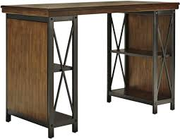 Large desks for home office Two Person Ashley Furniture Shayneville Home Office Counter Large Desk In Rustic Brown New Home Furniture Local Furniture Outlet Ashley Furniture Shayneville Home Office Counter Large Desk In