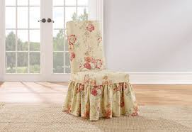 sure fit ballad bouquet long dining room chair slipcover