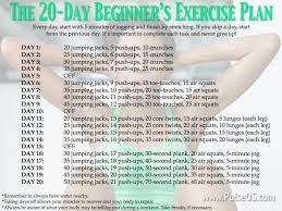 the 20 day beginner s exercise plan new to the gym no problem start this exercise plan that will get you into the groove after just 20 days