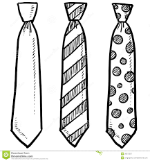 Small Picture Necktie Coloring Pages