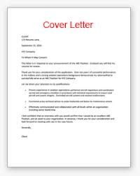 Resume Example Free Cover Letter Examples For Resume Resume Cover