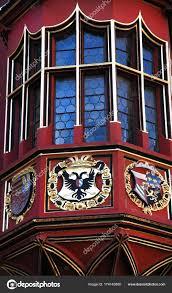 Die Fensterdekorationen Historische Kaufleute Hall Kaufhaus