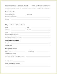 employer emergency contact form template babysitter information template
