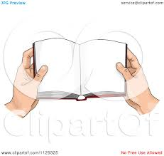 cartoon of hands holding an open book royalty free vector clipart by bnp design studio
