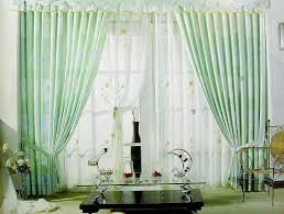 Light Green Living Room Curtain Design Ideas
