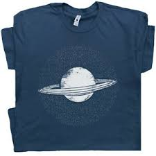 Details About Planet Saturn T Shirt Pluto Retro Science Solar System Astrology Astronomy Tee