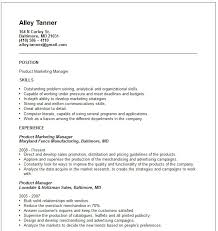 Sales And Marketing Resume Samples Product marketing Resume Example Free templates collection 37