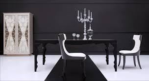 modern black dining room sets. modern dining table roma black rev jpg room sets