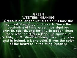 meaning of green my favorite color  17.