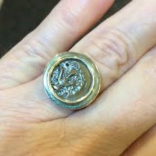 jewelry 10k yellow gold widows mite coin ring