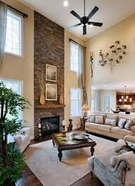 two story great room decorating ideas - fireplace wall | style | Pinterest  | Fireplace wall, Room decorating ideas and Room