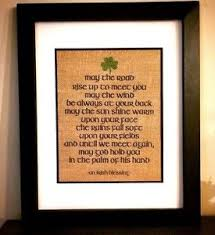 image is loading irish blessing may the road rise up burlap  on irish blessing wall art with irish blessing may the road rise up burlap print wall art sign