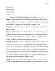 narrative life of frederick gouglass retorical passage analysis  2 pages narrative of the life of frederick douglass an american slave issues question