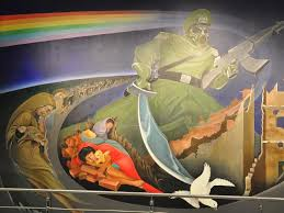 denver international airport murals. the murals have not surprisingly been removed. picture: jennifer boyer denver international airport n