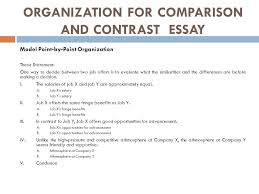 comparison and contrast essay ppt  organization for comparison and contrast essay