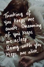 Loving You Quote Quotes Love Quotes Thinking of you keeps me awake Life Quotes 88