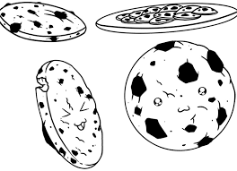 Small Picture Sweet Chocolate Chip Cookie Coloring Page Cookie Pinterest