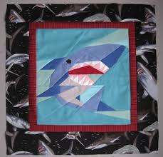Shark Block for Traveling Quilt | Christine Doyle & Shark block Adamdwight.com