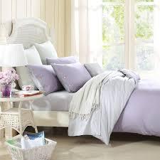 combed cotton 300 thread count mixed color fleur de lis purple light grey duvet