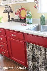 Painting Kitchen Cabinets Red Red Painted Kitchen Cabinets Home Design Ideas