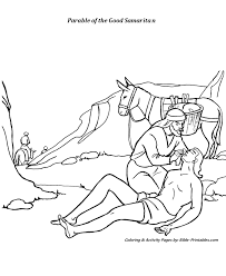The Good Samaritan Coloring Pages The Parables Of Jesus Coloring
