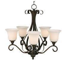 hampton bay 1001409292 westwood 5 light chandelier oil rubbed 635471 bay1