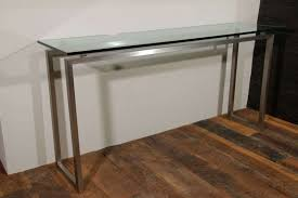 glass top console table glasetal console table