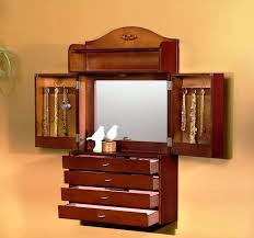 wall mounted jewelry armoires wall mounted jewelry armoire lighted