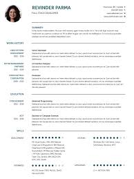English Resume Template Extraordinary CV Templates Professional Curriculum Vitae Templates