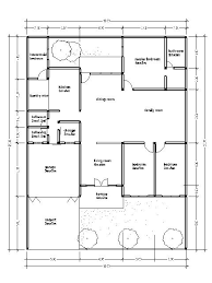 house plan with a wide area 15 m
