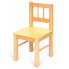 bigjigs childs wooden chair yellow