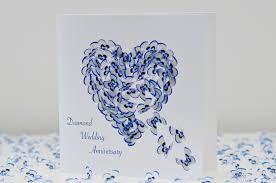 Butterfly Diamond Wedding Anniversary Card