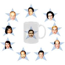 the office star mug. The Office Star Mug Set-- (notice There Aren\u0027t Mugs For Pam, Jim And Dwight. They Didn\u0027t Go To Party Therefore Got Blacklisted By Kelly.) F