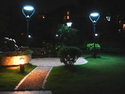 Lightahead Bright Outdoor Solar Energy Powered 4 LED Security Outside Solar Powered Lights