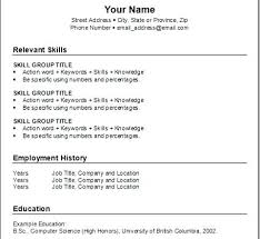 Free Sample Resume Template Collection - Resume Template Ideas - Part 2