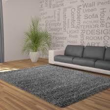 cloud nine grey thick shaggy rug 50mm living room grey rugs n59 rugs