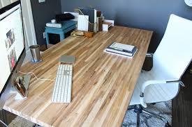 diy butcher block desk modish and main