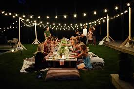 lighting for parties ideas. Outdoor Dinner Party Lights Video And Photos Lighting For Parties Ideas Photo 6 1314 S