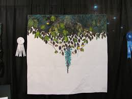 "Houston International Quilt Festival 2015 | Lori's Weblog & ""Souvenir"" by Maiko Ogawa Itabashi-ku of Tokyo Japan. Represents the Houston  skyline. Adamdwight.com"