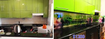 Glass Kitchen Backsplash Solid Glass Kitchen Backsplash Production And Installation