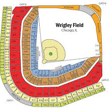 Wrigley Field Seating Chart Views And Reviews Chicago Cubs