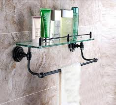 bronze shower caddy whole and retail promotion oil rubbed bathroom shelf cosmetic glass w