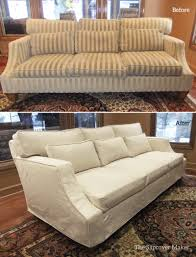 couch slipcovers before and after. Simple Couch Susans Sofa Slipcover Before And After In Couch Slipcovers Before And After