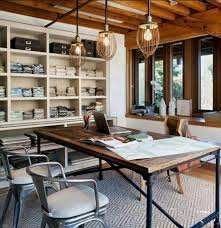 industrial style office desk. Industrial Lighting Fixture Above The Desk Style Office
