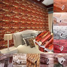 Moderne 3d Ziegel Stein Stil Tapete Schlafzimmer Wohnzimmer Wand