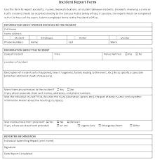 Incident Report Sheet Template Caseyroberts Co