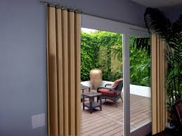 sliding glass door curtains size