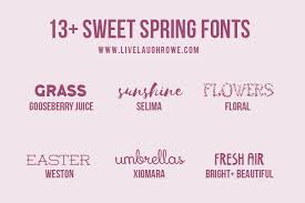 Free Spring Free Spring Fonts Find Inspiration From These Sweet Creative Fonts