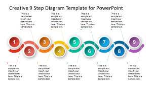 Timeline Photo Template 9 Steps Material Design Timeline Template